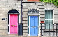 Georgian Doors in Dublin city, Ireland.