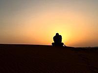 Africa, Morocco merzouga desert sunrise
