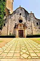 Sant Genis Church. Monells, comarca (county) of Baix Emporda. Girona, Catalonia, Spain