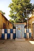 Border line in Nicosia between greek side and turk side, Cyprus