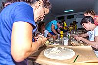 Making tarts for the Festival of the Hearts in Tejina municipality. Tenerife island