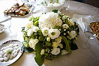 Flower table center in wedding