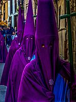 Spain-Guipuzcoa Basque Country- Holy Thursday procesion during Easter, at Segura.