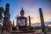 Wat Mahathat, Sukhothai Historical Park, Sukhothai, Thailand.