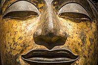 face, head, buddha, sculpture,statue,The National Museum,Exhibition Hall 1, Bangkok, Thailand.