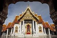 Wat Benchamabophit temple, Bangkok, Thailand.