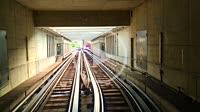 Automatic Metro Subway Train in Lausanne, Switzerland.