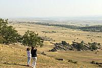 View from Zafra Castle. Sierra de Cladereros. Campillo de Dueñas. Guadalajara province, Castile-La Mancha, Spain