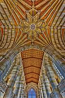 Yale University Sterling Memorial Library - Interior view of Collegiate Gothic architecture style main library at Yale University. Yale University is ...