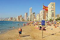 Levante beach, Benidorm, Alicante.
