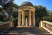 Public park of the Labyrinth Park of Horta, Barcelona, Catalonia Spain Europe.