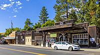 Old west style town of Winthrop in Okanogan County in Washington State in the United States.