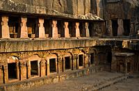 "Udayagiri caves ( near Bhubaneswar, India). These particular caves are called """"rani gumpha"""". Khandagiri and Udayagiri are two hills containing buddh..."