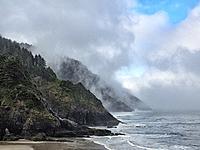 Oregon Foggy Coast. USA