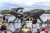 Crab sculpture in Krabi Town, Thailand, Asia