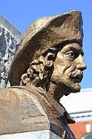 Canada, Quebec, Trois-Rivières, Sieur de Laviolette, statue,.