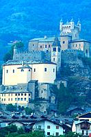 Castle of Saint-Pierre in the valley of Aosta. Italy.
