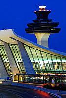 Washington Dulles Airport with Terminal Building designed by Eero Saarinen.