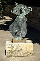 Figurine, 1969, bronze, Joan Miró ,Fundació Pilar i Joan Miró, Palma, Mallorca, Balearic islands, Spain.