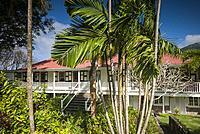 St. Kitts and Nevis, Nevis, Cole Hill, Montpelier Plantation Inn, former sugar plantation.