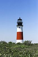 Sankaty Lighthouse in Siasconset, Nantucket, Massachusetts, USA,.