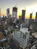 Sunset in Manhattan, New York City