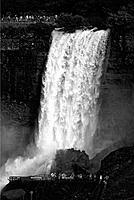 Tourists watching Niagara Falls. Niagara Falls, New York, USA.