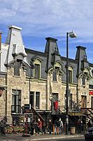 Canada, Quebec, Montreal, St-Denis street, historic architecture, people,.