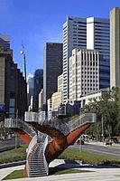 Canada, Quebec, Montreal, Boulevard Robert-Bourassa, Dendrites, artwork by Michel de Broin,.