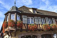village Andlau, foothills of the Vosges Mountains, on the Wine Route of Alsace, France.