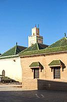 Morocco, Marrakech-Safi (Marrakesh-Tensift-El Haouz) region, Marrakesh. Mosquee Ben Youssef mosque in the medina (old town).