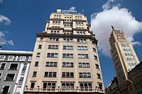 Building in Gran Via, Madrid, Spain