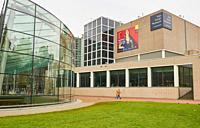 Van Gogh Museum by Gerrit Rietveld with Modern extension by Kisho Kurokawa, Museumplein, (Museum Square), Amsterdam, Holland.
