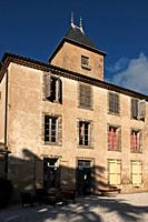 The renovated chateau of the Domaine La Baume winery estate in Servian, France.