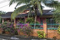 A Malay bungalow at Kampung Satok, Kuching, Sarawak, Malaysia