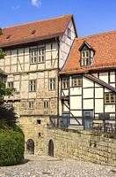 Castle and Monastery buildings on Schlossberg in Quedlinburg, Saxony-Anhalt, Germany.