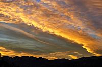Sunset, Cantabria, Spain, Europe.