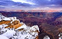 Grand Canyon National Park, South Rim at Winter, Arizona.