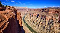 Toroweap Overlook, Grand Canyon National Park Arizona, USA. It's 3000 feet above the Colorado River, straight drop down from the top.