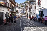 Streets of Taxco de Alarcon, State of Guerrero, Mexico.