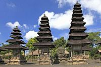Shrines in the Holy Temple, Utama Mandala, in Pura Taman Ayun, the royal temple at Mengwi, Badung, Bali, Indonesia. This temple was was built in1634 d...