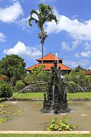 Fountain in the grounds of Pura Taman Ayun, the royal temple at Mengwi, Badung, Bali, Indonesia. This temple was was built in1634 during the reign of ...