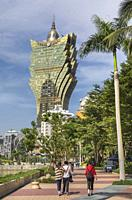 China , Macao City, Grand Lisboa Casino.