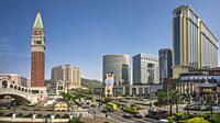 China , Macao City, Cotai Area, Strada do Istmo Avenue.