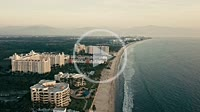Aerial view at the Nuevo Vallarta coastline of Riviera Nayarit, Mexico, View at the RIU hotels