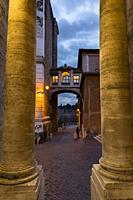 Via del Campidoglio. Alleyway streets. Rome, Italy.