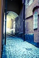 Medieval street, Gamla stan, Stockholm.