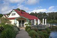 Boathouse Cafe on Lake Daylesford. Daylesford is a mineral spa town in the Central Highlands of Victoria, Australia.