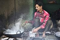 Street-side chef, Pushkar, Rajasthan, India.