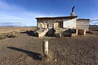 Refuge in the Bardenas reales, Navarra, Spain.
